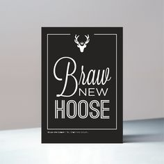 Braw New Hoose - Scottish Housewarming Card by Glory & Adornment Scottish Greetings, Housewarming Card, Brown Envelopes, House Made, Cello, House Warming, Scotland, Greeting Cards