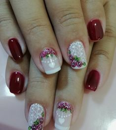 Christmas Nail Designs, Christmas Nails, Nancy Nails, Valentine Nail Art, Nail Arts, Manicure And Pedicure, Toe Nails, Nail Art Designs, Beauty Hacks