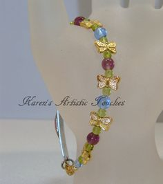 Amethyst Purple Sapphire Blue Butterfly Gold by ArtisticTouches, $15.00