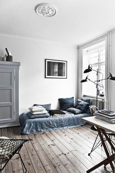 Decorating with shades of grey and blue