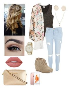 """""""Killin' in Kors #13"""" by shortgirlmads ❤ liked on Polyvore featuring M Missoni, Mat, River Island, TOMS, Lime Crime, Michael Kors, LC Lauren Conrad, Kendra Scott, MICHAEL Michael Kors and gold"""