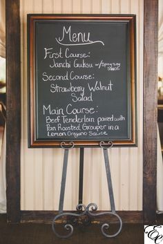 Menu Chalkboard | Designed by Engaging Events