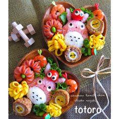 SnapDishに投稿された野崎智恵子さんの料理「ピンクのトトロ (ID:ur5Tya)」です。「今日のキャラ弁は孫ちゃんのリクエストでピンクご飯のトトロ」ピンク トトロ ご飯