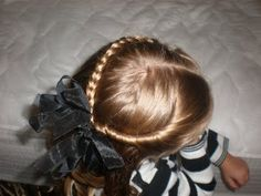 easy cute -- braid on one side, twist on the other