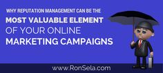 Effective reputation management may be the single-most vital online marketing tactic to building a brand. What customers say about a brand is very valuable. @ronsela