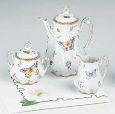 Three Piece Coffee Set by Anna Weatherley from DeVine Corporation - Official U. Coffee Service, Tea Service, Sugar Bowls And Creamers, Teapots And Cups, My Tea, Fine China, Tea Party, Tea Cups, Anna