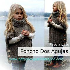 Chaleco abotonado en los costados, con cuello tortuga para niños tejido a crochet paso a paso clase magistral en español