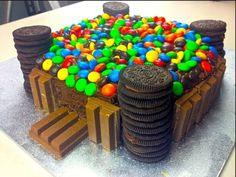 KIT KAT & M&M CASTLE CAKE - How to video - YouTube