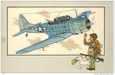 Tintin Aviación - Douglas A-24 Dauntless 1940