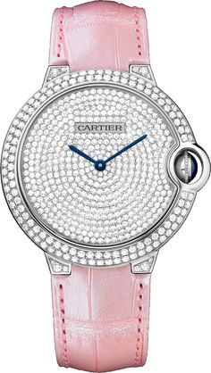 #Cartier Ballon Bleu De Cartier White Gold #Watch