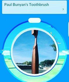 Our Grand Dental - Franklin Park toothbrush statue is a Pokéstop on Pokémon Go! #pokémongo #pokéstop