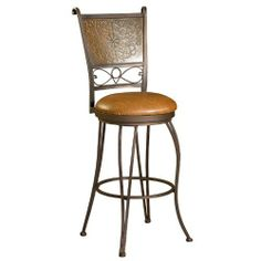 Bronze with Muted Copper Stamped Back Bar Stool, 30-Inch Seat Height by Powell Furniture. $94.00. Paisley Chenille tapestry (53% cotton and 47% polyester). Exposed solid wood Queen Anne legs. Large nail head trim. This outstanding looking Parsons Chair is covered with a paisley chenille tapestry. Accented with exposed solid wood Queen Anne legs and large nail head trim. Use one as an accent chair in a living room or den, or group around a dining room table to add t...