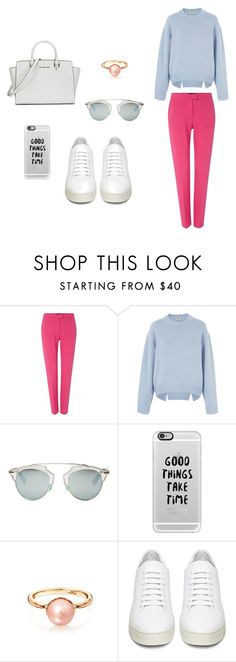 """""""comfort"""" by juliatabola ❤ liked on Polyvore featuring Armani Jeans, Acne Studios, Christian Dior, Casetify, Off-White and Michael Kors"""