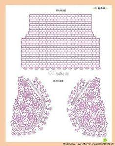 Crochet Bolero, Gilet Crochet, Crochet Motifs, Crochet Circles, Crochet Cardigan Pattern, Crochet Jacket, Crochet Diagram, Crochet Stitches, Crochet Top