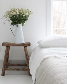 Modern Country, Modern Rustic, White Wood Floors, Natural Bedroom, White Cottage, House Rooms, Rustic Chic, Winter White, Bed And Breakfast