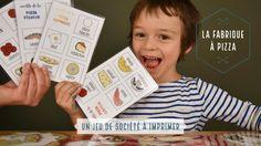 Vous cherchez un jeu de société à imprimer gratuitement ? Voici comment fabriquer votre jeu pour enfants de maternelle et primaire sur le thème de la pizza.