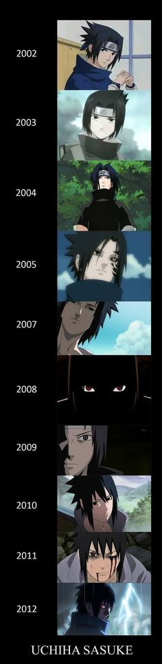 sasuke evolution by Bleach-Fairy on deviantART