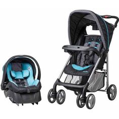 Evenflo JourneyLite Travel System with Embrace, Koi The evenflo journeylite travel system makes being on-the-go with baby a breeze. The travel system includes Car Seat And Stroller, Travel Stroller, Baby Car Seats, Baby Transport, Travel Systems For Baby, The Embrace, Traveling With Baby, Baby Essentials, Baby Gear