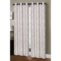 Window Elements Dover Linen Blend Grommet Curtain Panels & Reviews | Wayfair $30 Pair