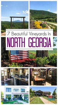 Visit some of the best vineyards in North Georgia. North Georgia is beautiful with fantastic greenery, the Blue Ridge Mountains, and wonderful wine tours. #HelenGA #BlueRidgeMountains #WineriesinGeorgia via @winonarogers