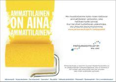 Kun Suomen Maalarimestariliitto muutti nimensä Pintaurakoitsijat ry:ksi, pääsimme AD Julia Alakuljun kanssa tekemään kaiken tarvittavan logosta jäsenrekrykampanjaan.