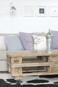 made me think of our screen porch ... pallet table on wheels would be weather proof and versatile