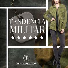 Atención...¡Firmes!  Es jueves de Moda y el Verde Militar se renueva esta temporada de Otoño. Hay un look en muchos tonos de verde según tu Estilo. ¡Descúbrelo! Fashion Factor pasa revista a tu armario para que siempre esté completo.