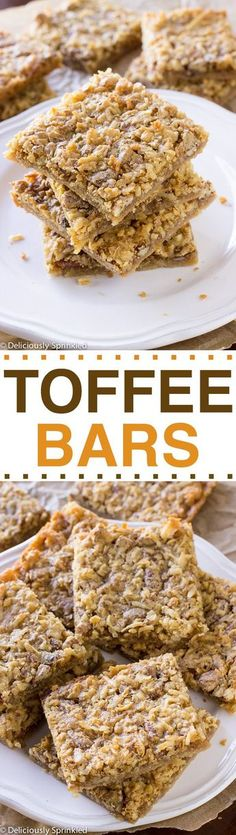 Easy Toffee Bars  | Posted By: DebbieNet.com