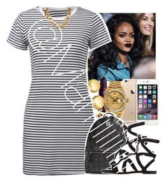 """Strips"" by marriiiiiiiii ❤ liked on Polyvore featuring MAC Cosmetics, Lipstick Queen, Sevil Designs, Rolex, MCM and Gianvito Rossi"