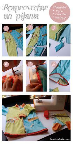 Ideas para reciclar ropa de bebe