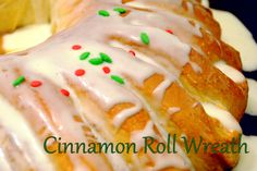 How To Make A Cinnamon Roll Wreath - Living on Love and Cents