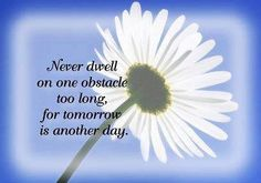 """Tomorrow is another day"" quote via Carol's Country Sunshine on Facebook"