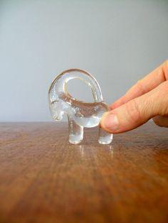 Vintage Kosta Boda Glass Animal  Mini Ibex by luola on Etsy, $20.00