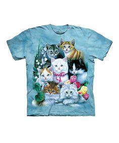 This Blue Kittens Tee - Toddler & Girls is perfect! #zulilyfinds