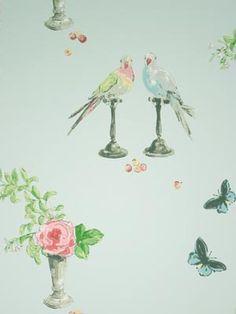 """Wallpaper """"Perroquet"""" Nina Campbell"""