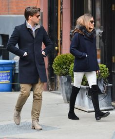 Olivia Palermo and ohannes Huebl out for a stroll after lunch in New York City on March 23, 2014.