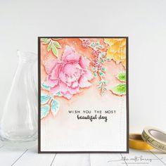 Altenew peony bouquet