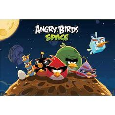 angry birds space poster would go with my glow planets