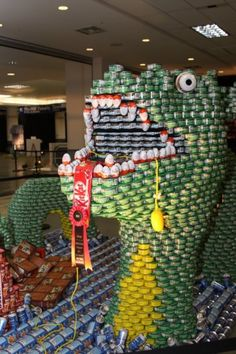 Sculptures+Made+Out+of+Food   Dragon sculpture from Canstruction Vancouver 2011. Photo: Canstruction ...