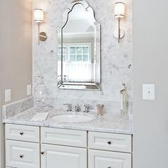 Sink Alcove, Transitional, bathroom, Benjamin Moore Revere Pewter, Courtland Homes