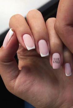 French tip nails French Tip Nail Art, French Tip Nail Designs, Gel Nails French, Shellac Designs, Nail Art Designs, Nails Design, Design Art, Minimalist Nails, Milky Nails