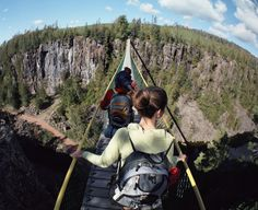 Eagle Canyon - Ontario, Canada (BTWN Thunder Bay and Sudbury) Oh The Places You'll Go, Places To Travel, Places To Visit, Ottawa, Torre Cn, Ontario Place, O Canada, Canada Ontario, Voyage Canada