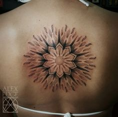Tattoos | Dotwork Mandala Sun tattoo by Alex Edge Tattoos in San Diego, CA