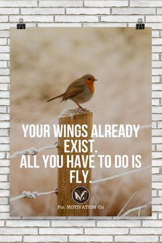 YOUR WINGS ALREADY EXIST | Poster – PutMotivationOn Follow all our motivational and inspirational quotes. Follow the link to Get our Motivational and Inspirational Apparel and Home Décor. #quote #quotes #qotd #quoteoftheday #motivation #inspiredaily #inspiration #entrepreneurship #goals #dreams #hustle #grind #successquotes #businessquotes #lifestyle #success #fitness #businessman #businessWoman #Inspirational