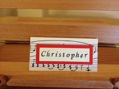 Music theme place name card