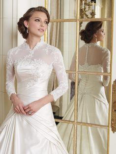 Sophia Tolli wedding dress with sleeves. Y1929 - Emilie