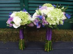 Hydrangeas and Lisianthus