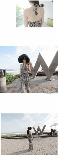 2710327bdab Beach Skirt Female Summer 2018 New Style Sexy U-Back Seaside Holiday Onesie  Slimming Chiffon Halter Dress