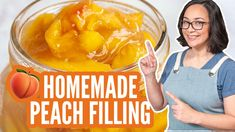 Peach Filling Canning Peach Pie Filling, Peaches And Cream Recipe, Canning Peaches, Canned Cherries, Peach Juice, Cake Fillings, Crusts, Fruit Recipes, Baking Ideas