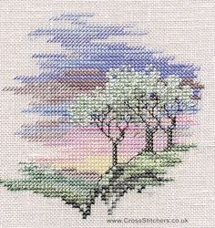 Frosty Trees - Minuets - Cross Stitch Kit from Derwentwater Designs